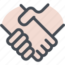agree, business, communication, deal, hand, hands, handshake icon