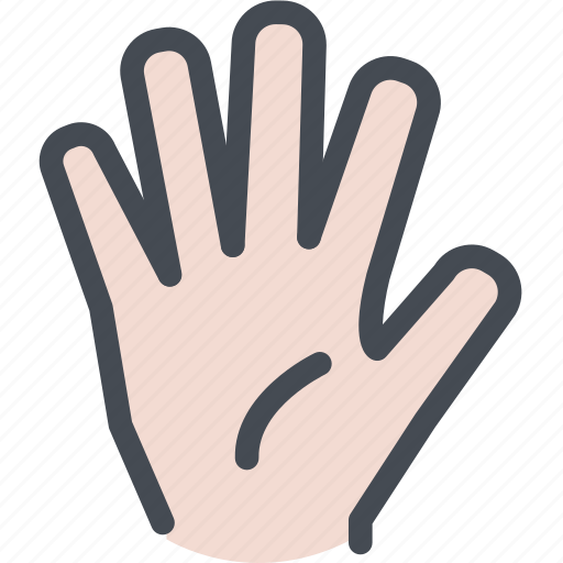 agree, fingers, five, hand, vote icon