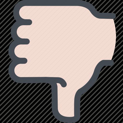 bad, disapprove, dislike, hand, thumbs down icon
