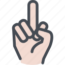 communication, conversation, f off, finger, fuck, hand, middle finger icon