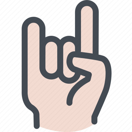 fingers, hand, rock, rock music, rock on icon