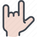 fingers, hand, ily sign, love icon