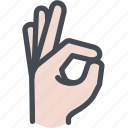 fingers, good, hand, ok, ok hand icon