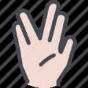 conversation, hand, hand gesture, hand symbol, vulcan salute icon