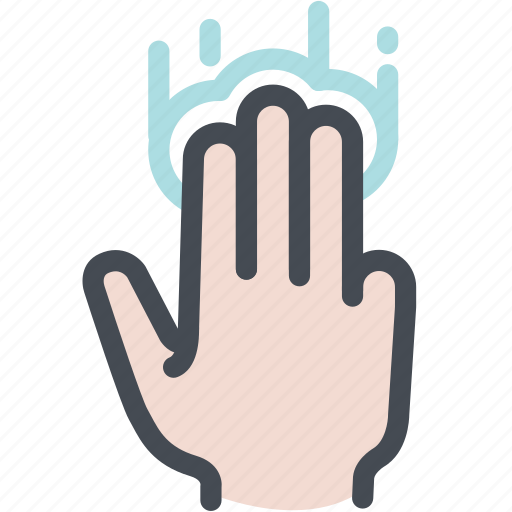 hand, screentap, three fingers tap, touch icon