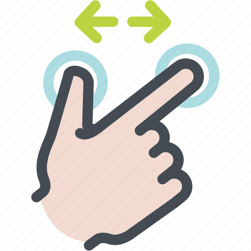 arrow, finger expand, hand, screen, touch, zoom in icon