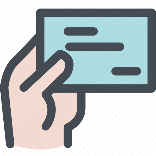 business card, business card in hand, finger, hand, paper icon