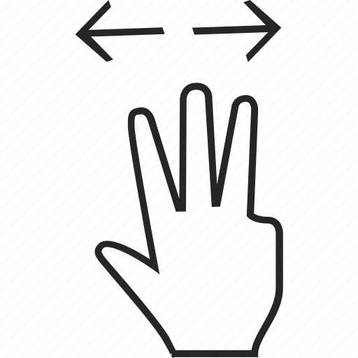 arrows, expand, hand, hand cursor icon