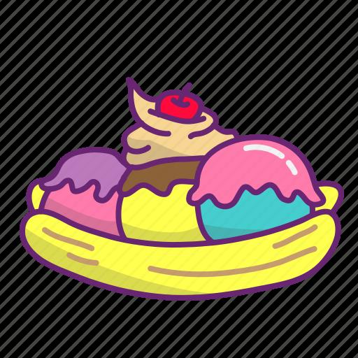 cold, dessert, frozen, ice cream, sweet icon