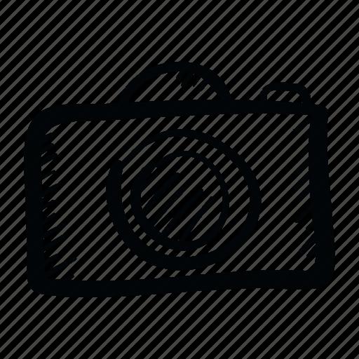 Camera Cinema Film Gallery Hand Drawn Movie Video Icon
