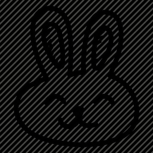 animal bunny easter bunny emoji hand drawn pet rabbit icon Mixed Blasian Girl Emoji