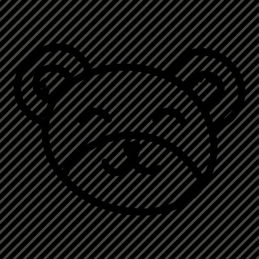 animal, bear, bear face, emoji, hand drawn, teddy bear icon