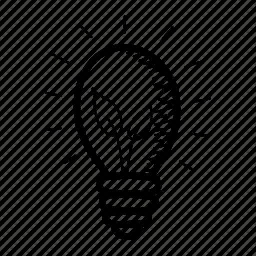 attention, bulb, eco bulb, hand drawn, idea, illumination, light bulb icon