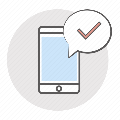 app, booking, confirm, confirmation, mobile, notice, notification, sms, track, tracking icon