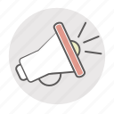 ad, advertising, appeal, broadcast, broadcasting, bullhorn, leader, leadership, marketing, megaphone, news, popular, pr, promo, promote, promoter, promotion, propaganda, public, publicity, reclame, speaker, spread icon