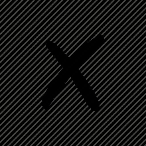 cancel, close, cross, decline, no icon