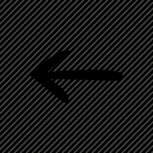 arrow, arrow left, left icon