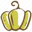 capsicum, cook, food, kitchen, meal, restaurant, vegetable icon