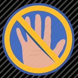cancel, gesture, hand, hello, rule icon