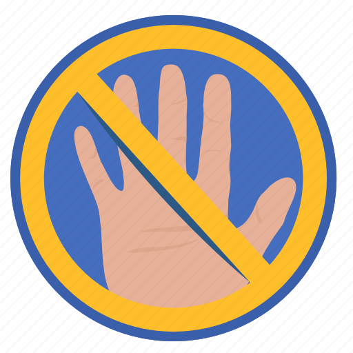 cancel, gesture, hand, hello, rule icon