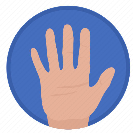 gesture, hand, hello, rule icon