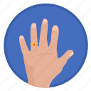 fingers, gesture, hand, married