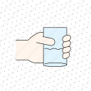 coffee, color, cup, drink, finger, gesture, hand, hold, tea, touch, water icon