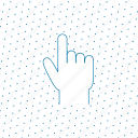 finger, fingers, gesture, grey, hand, interaction, tap, touch icon