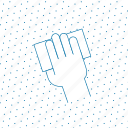 drawn, finger, fingers, gesture, grey, hand, interaction, tap, touch icon
