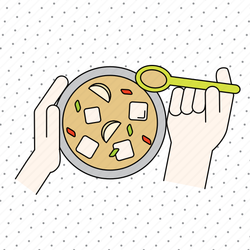 color, cooking, finger, food, gesture, hand, kitchen, restaurant, soup, spoon icon