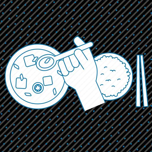chopsticks, cooking, finger, food, gesture, grey, hand, healthy, kitchen, restaurant, spoon icon