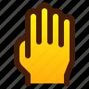 finger, five, gesture, hand, high
