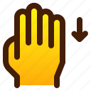 down, gesture, hand, swipe icon