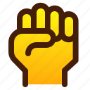 fist, gesture, hand, rock icon