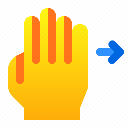 gesture, hand, right, swipe icon