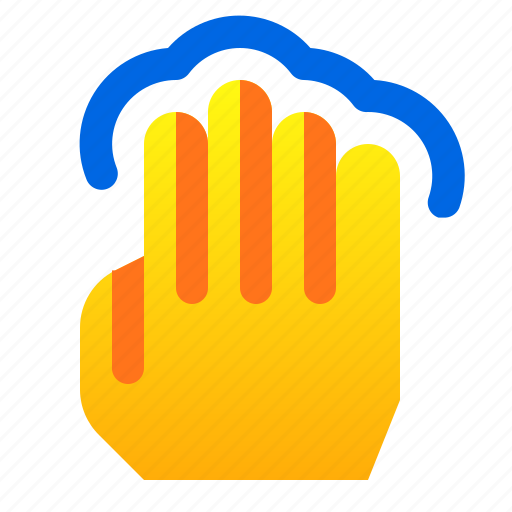 gesture, hand, tap, touch icon