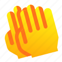 applouse, claps, gesture, hand icon