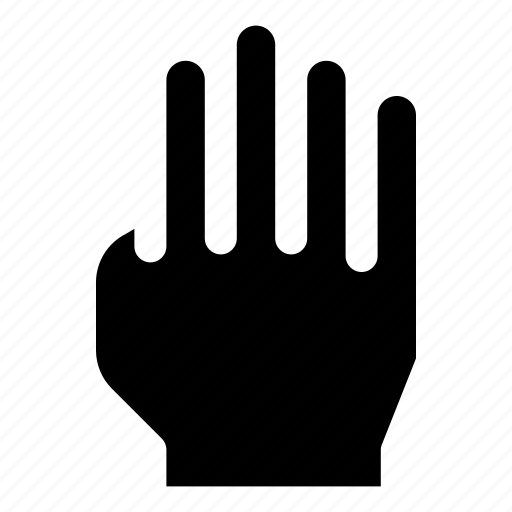 finger, five, gesture, hand, high icon