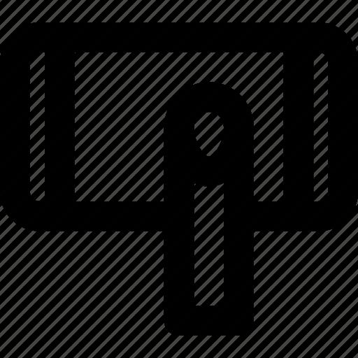 finger, gesture, hand, interaction, landscape, press icon