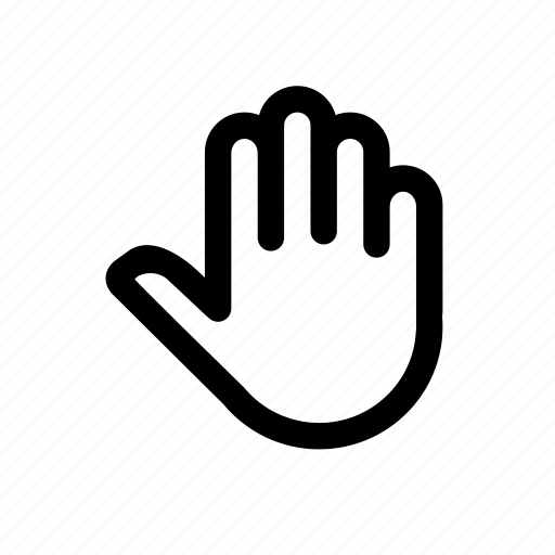 fingers, greeting, hand, hello, hi, tap, touch icon