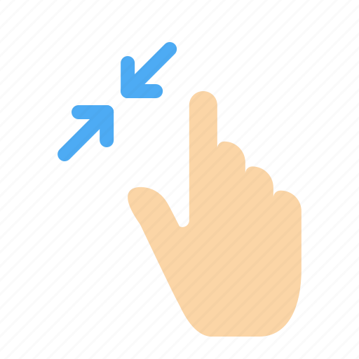 contract, gestures, interface, pinch, touch icon