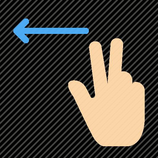 fingers, gesture, left icon