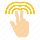 double, gestures, hand, tab icon