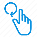 finger, gestures, hand, reload icon