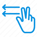fingers, gesture, lefts icon