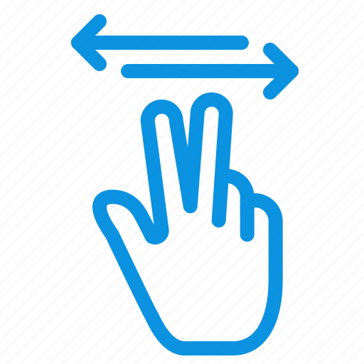 gestures, hand, mobile, touch icon