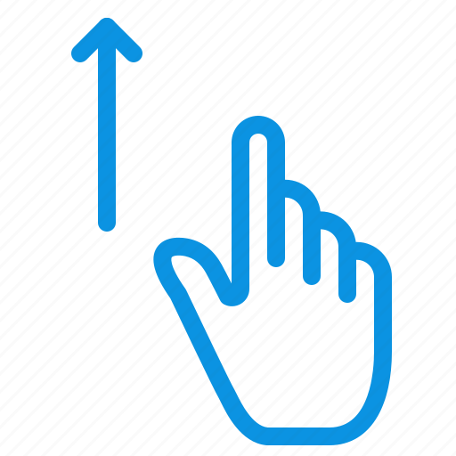 finger, gesture, gestures, hand, up icon