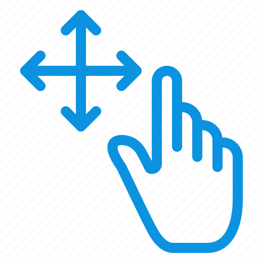 finger, gesture, hold icon