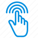 finger, gestures, hand, interface, tap icon