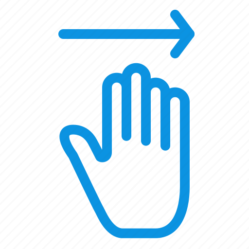 arrow, gestures, hand, right icon